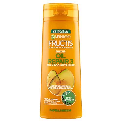 Garnier Fructis Oil Repair 3 Shampoo per Capelli Secchi, 250ml