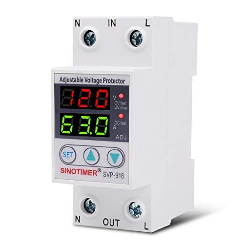 KoelrMsd Control de relé de Voltaje Ajustable Protección contra sobretensión Dispositivos de protección contra sobretensión y sobrecorriente Carril DIN