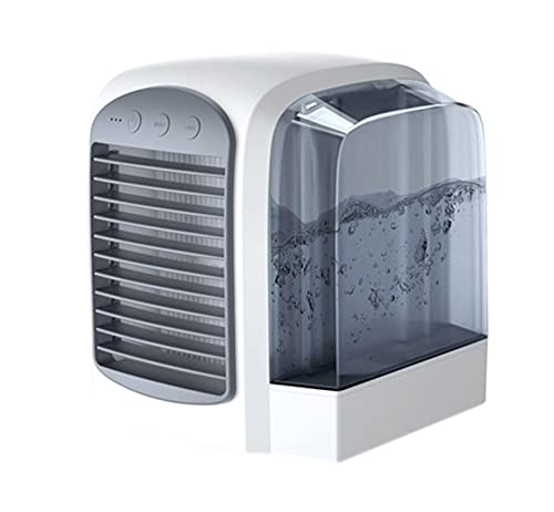 Aria condizionata portatile, USB portatile raffreddatore d'aria, ventilatore da scrivania, umidificatore per casa, ufficio, camera da letto (grigio)