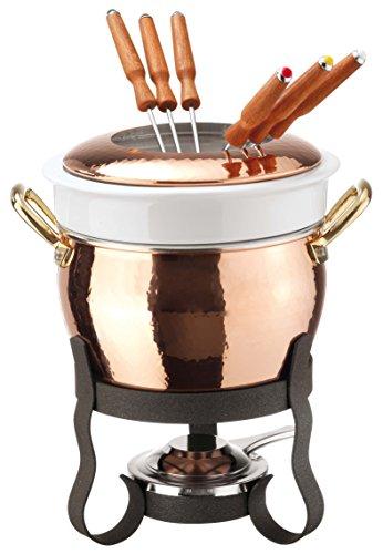Paderno World Cuisine Kupfer-Fondue-Set.