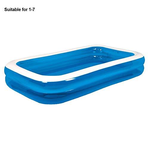 Opblaasbaar Zwembad Herbruikbaar Verdikt Slijtvast Huis Buiten Kinderbad Zwembad Rechthoekig Zwembad Kinderzwembad (7 Maten)