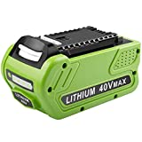 [1Pack] Upgraded 40V 6.0Ah Replacement Battery for GreenWorks 29472 29462 Battery Lithium 40V G-MAX Power Tools 29252 20202 22262 25312 25322 20642 22272 27062 21242 (Not Fit Gen 1)