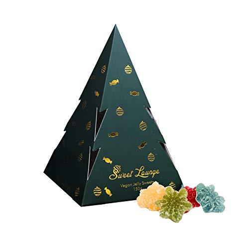 Sweet Lounge - Vegan Fizzy Snowflake Gummies Pyramid Box 150g | Plastic-Free Packaging