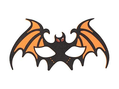 Masque chauve souris batman en feutrine de qualité supérieure adulte et ados Idée de Déguisement pour Soirées et Fêtes Déguisées à Thème, Halloween, Carnaval, Bal Masqué, choisir:97522 chauve-souris orange