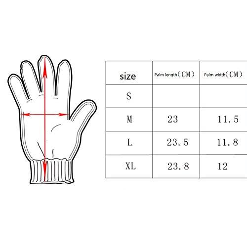 Militärische taktische Touchscreen-Handschuhe aus Gummi, harte Fingerknöchel, Vollfinger-Handschuhe für Kampf, Motorrad, Jagd, Wandern L Schwarz