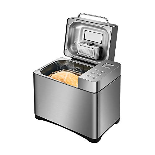Automatische Brotmaschine, Family Bread Maker Professioneller Antihaft-Brotbackautomat mit automatischem Fruchtnussspender, 17 Programme, 15-Stunden-Timing, Gewichtseinstellungen 500g / 750g / 1000g