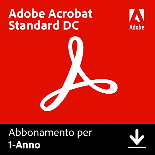 Adobe Acrobat DC | Standard | 1 Anno | PC | Codice d'attivazione per PC via email