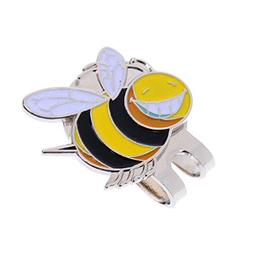 MagiDeal Golf Zubehör Cap Clip mit Magnet Golfball Marker / Hut Clip mit Magnetisch Ballmarker, in verschiedenen Muster Design, ideal Geschenkidee für Golfspieler und Golf Fans - Kleine Biene
