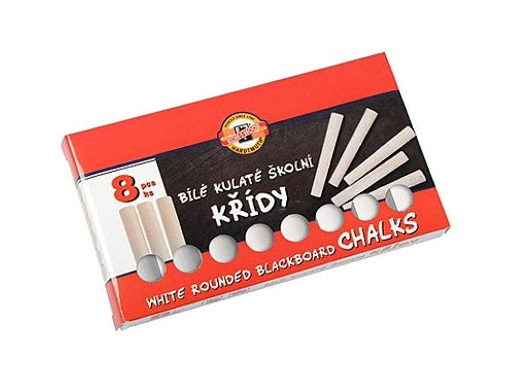 Koh-I-Noor Round Blackboard Chalks, White, 8-Piece