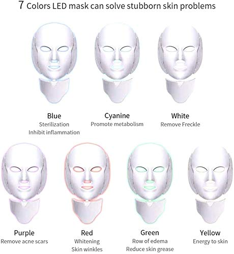 3D Fototherapie Color LED Mask Instrument Cold Light LED Electronic Mask Instrument Beauty Gezichtsverzorging Mask Skin Anti-Rimpel Acne Verwijdering