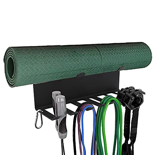StarONE Resistance Band Rack Band Storage Hanger Yoga Mat Jump Rope Storage for Home Gym
