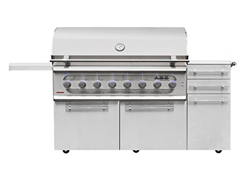 American Muscle Grill Freestanding Dual Fuel Wood/Charcoal/Gas Grill