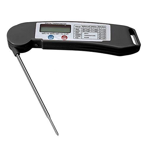 WSFANG Elektronisches Zubehör Faltbare Digitale Instant Lesen Sie Lebensmittelsonde Kochen Fleisch Kitchen BBQ Thermometer 1 Stück (Color : Black)
