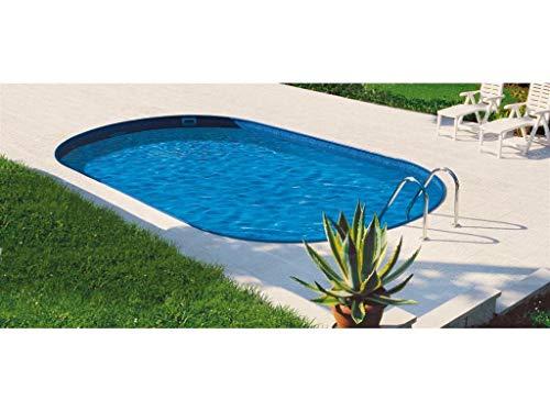Mountfield AZURO Ibiza VBL13 - Piscina de pared de acero, ovalada, 700 x 350 x 150 cm, con lámina interior, sin filtro