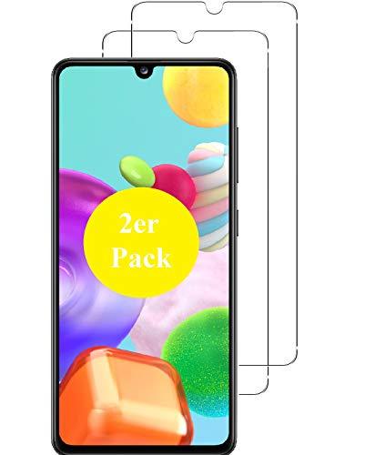 Smartphone-Equipment [2er Pack] Panzerglas für Samsung Galaxy A41 Echt-Hartglas 9H Glasfolie Schutzfolie Glas Folie Panzerfolie Bildschirm Schutz