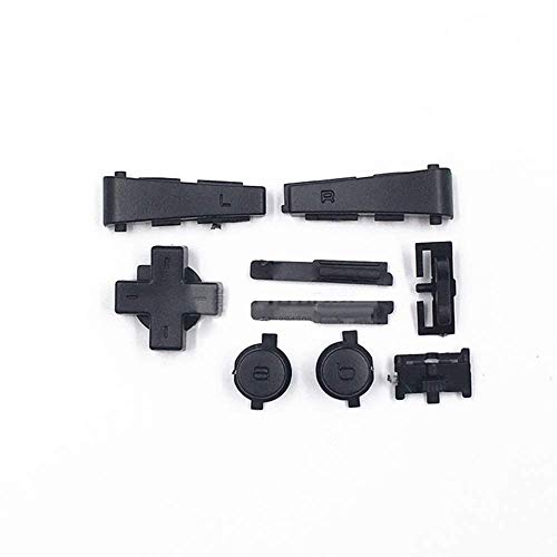 Full L R Trigger AB Dpad Buttons Parts for Gameboy Micro GBM Console Black