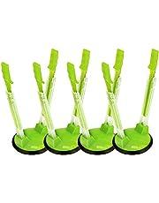 YAMA Racks Bag Holders, 4 Pack Hands-Free Clip Plastic Food Storage Bag Holder(Green)