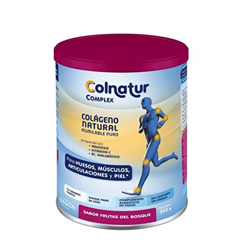 Colnatur Complex Frutos del Bosque 330 g - Colágeno natural asimilable puro, vitamina C, Magnesio, Ácido Hialurónico - Cuidado de articulaciones, huesos y músculos. Actividad física media - 11 g/día.