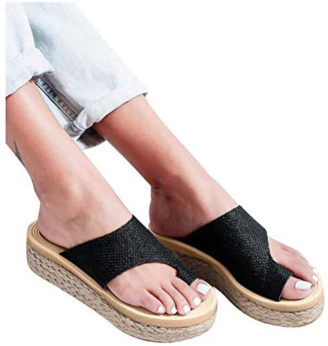 ASDF Zapatos cómodos de Plataforma para Mujer con Soporte de Arco correctores de juanetes de Verano para Mujer Pies Casuales Zapatillas correctas para la corrección del Hueso del Dedo Gordo,