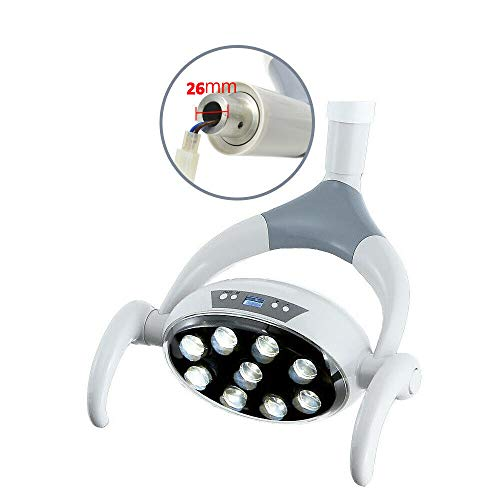 Panda Life Lámpara Dental Oral Light Sin Sombras para cirugía Dental con 9 LED para sillón Dental (?22mm o ?26mm) (?26mm)