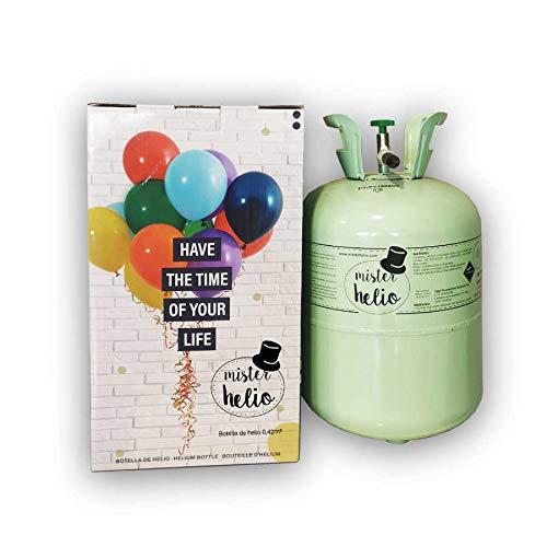 Bombona de Helio Mister Helio para 50 globos (globos no incluidos)