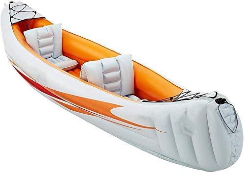 L.HPT Kayak Inflable, Explorer Dos o Tres Botes inflables Grupo de Pesca Engrosamiento de Kayak Kayak Inflable Aerodeslizador para Enviar Bomba de Aire de hélice de Barco/Naranja