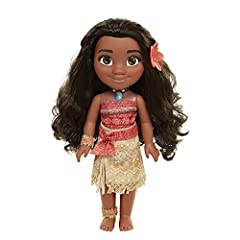 Go on an ocean adventure with Moana Moana is dressed in her iconic outfit from the film Includes a wear & share flower hair clip that you can wear too Necklace and accessories to match Recommended for ages 3+