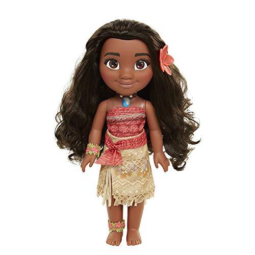 Glop Games- Princesa Disney, muñeca Vaiana con Todo Lujo de Detalle. Fíjate en su Pelo, Vestido, Flor de Polinesia Toddler 35cm, 38 cm (04703)