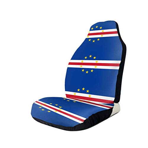 Preisvergleich Produktbild Sobre-mesa Kap Verde Flagge Autositzbezug Set Universal Fit Die meisten Geländewagen PKW Van Limousine 1Pcs / 2Pcs