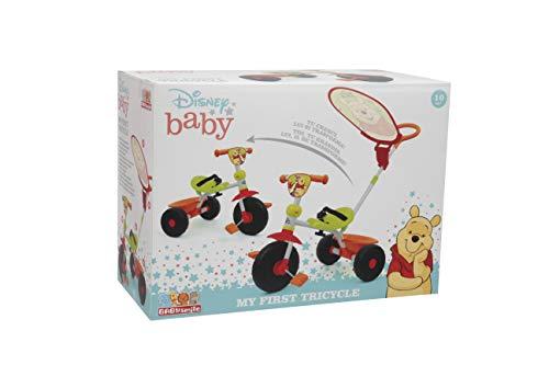 Baby Smile - Triciclo Winnie The Pooh - Triciclo Bambini con Personaggi Winnie The Pooh - Triciclo con Maniglione Rimovibile, Seduta Regolabile, Blocco Pedali - Giochi per Bambini e Giocattoli