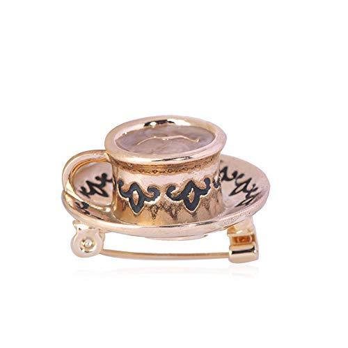 KXBY Koffiemok patroon emaille pins legering broches voor vrouwen mannen pak gebreide jassen rugzak sieraden dagelijkse ornamenten geschenken zoete broche