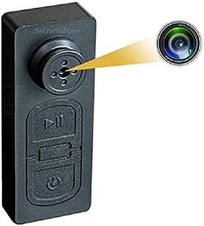 SekyuritiBijon S918 HD Audio and Video CCTV Cam Covert Spy Miniature Button Hidden Camera with SD Card Slot - Up to 32GB
