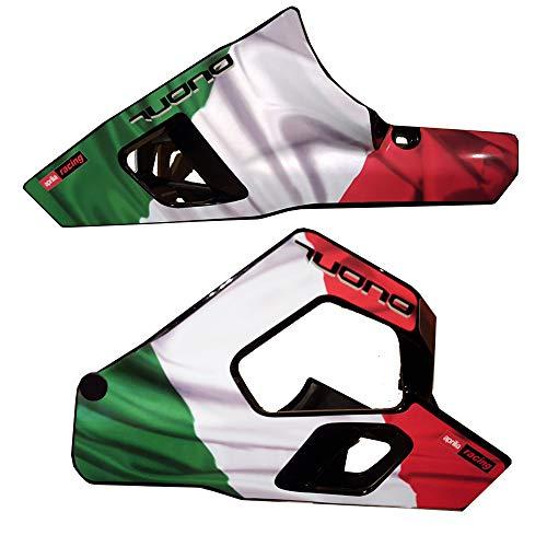 Zion Designs Bauchnabel-Pfanne Aprilia Tuono V2 1000 Gen 2 Italienische Flagge