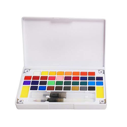 Pintura para acuarelas, 12/18/24/36 colores, juego de acuarelas de pigmento sólido portátil para viajes, con pincel para acuarelas, para suministros de arte de pintura 36 colors 36 Colors