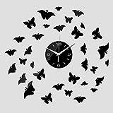 SKJH Reloj de Pared deacrílicoEspejo PegatinaDIY 3D Crystal Relojes