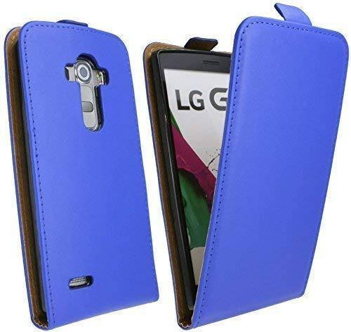 ENERGMiX Handytasche Flip Style kompatibel mit LG G4S (H735) in Blau Klapptasche Hülle