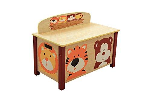 Liberty House Toys Jungle Spielzeug-Box, Holz, Mehrfarbig