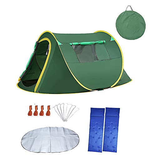 Tents Camping, Outdoor 1-2 People Fully Automatic Speed Open Camping Thickening, Instant Family For Hiking Traveling 0630 (Color : Package 4)