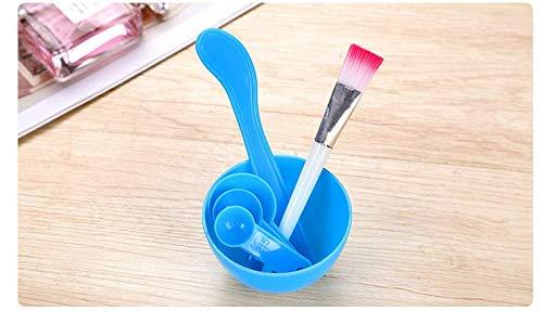 XiZiMi pour le mélange de masque de modelage Clay Diy cuillère de jauge de brosse de baton outil de masque facial en plastique avec bol de masque facial Ensemble de bol de mélange de masque facial 4