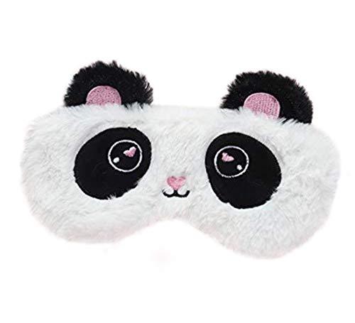 Laahoem Tierschlaf Augenmaske Nette lustige 3D Weiche Flauschige Cartoon Augenmaske Zum Schlafen Reisen Atmungsaktive Lidschattenmaske Kinder Erwachsene Frauen Panda