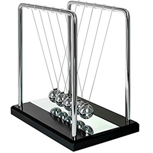 Adkwse Newton Pendel Cradle Kugelstoßpendel Kugelspiel mit Spiegel
