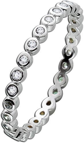 CH.ABRAMOWICZ Memoire Ring Silber Sterling 925 Zirkonia klar weiss (18)