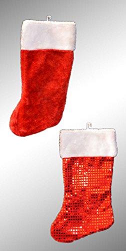 Nicolaus Stiefel Weihnachtsstiefel zum befüllen Weihnachtsstrumpf Baumwolle Neu (Mit Glitter)