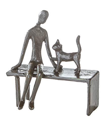 Casablanca - Design-Skulptur Zuwendung - aus Eisen - brüniert H 12 cm