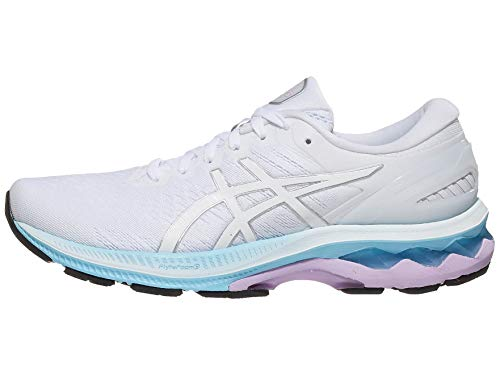 ASICS Women's Gel-Kayano 27 Running Shoes, 10.5M, White/Pure Silver