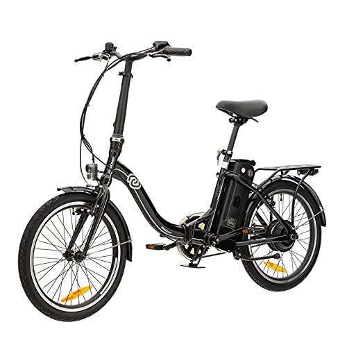VECOCRAFT Nemesis Elektro Klapprad,Elektrofahrrad 20 Zoll E-Bike,E-Folding Bike mit ausziehbarer Baterrie 36V 13Ah(468WH),250W Motor, E-Bike Klapprad Herren&E Bike Damen mit Niedrigem Rahmen (Schwarz)