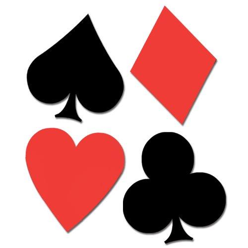 Cutout Carte à Jouer ( lot de 4 )