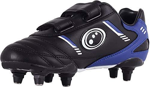 Optimum Tribal Velcro Moulded Stud, Botas de Fútbol para Niños, Negro (Black/Blue), 32 EU (13 UK)
