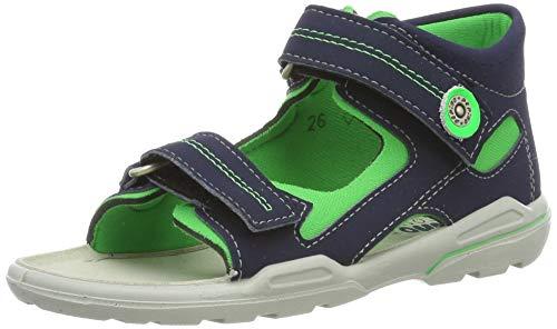 RICOSTA Jungen Manti Geschlossene Sandalen, Blau (Nautic/Neongrün 555), 22 EU