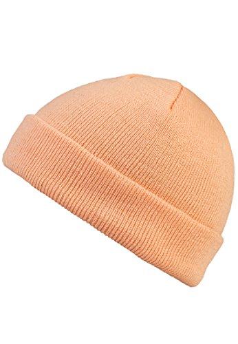 MSTRDS Unisex Strickmützen Short Pastel Cuff Knit Beanie, Orange (Peach 4762), One Size (one size)